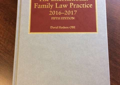 5th edition of Jordans 'International Family Law Practice' is published