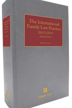 "Publication of ""The International Family Law Practice 2015/2016"""